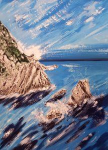 La pittrice Grazia de Angelis ha voluto offrire una sua opera d'arte allo chef  Elis Marchetti essendo anche una volontaria ambalt. Grazie a tutti! Oltre la cena c'è di più.